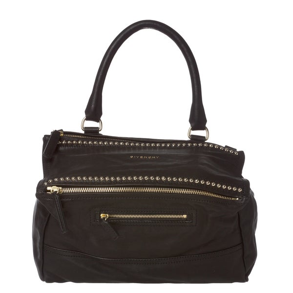 Givenchy 'Pandora' Black Leather Studded Shoulder Bag