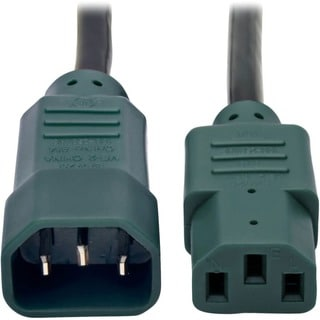 Tripp Lite 4ft Computer Power Cord Extension Cable C14 to C13 Green 1