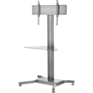 "Peerless-AV Flat Panel Floor Stand with Metal Shelf for 32"" to 75"" Di"