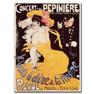 'Concert de la Pepiniere 1902' Canvas Art