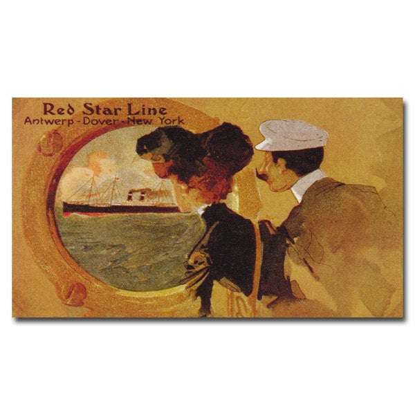 'Red Star Line' Canvas Art