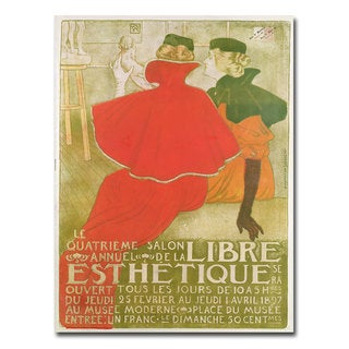 'Salon Anuuel de la Libre Esthetique 1897' Canvas Art