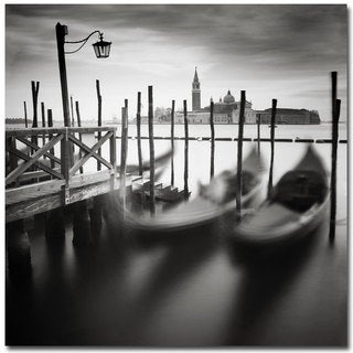Nina Papiorek 'Venice Gondolas' Canvas Art