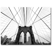 Nina Papiorek 'NYC Brooklyn Bridge' Canvas Art