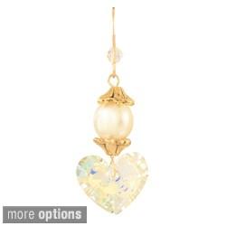 Una Pearl and Crystal Earrings