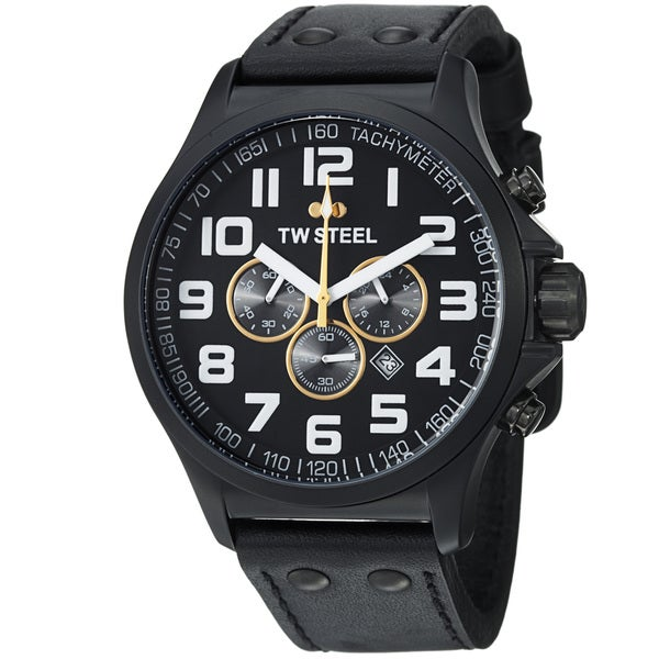 TW Steel Men's 'LutosF1Team' Black Dial Chronograph Quartz Watch