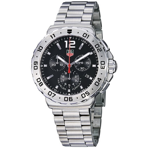 Tag Heuer Men's 'Formula 1' Black Dial Stainless Steel Bracelet Watch