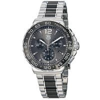 Tag Heuer Men's 'Formula 1' Grey Dial Steel Ceramic Bracelet Watch