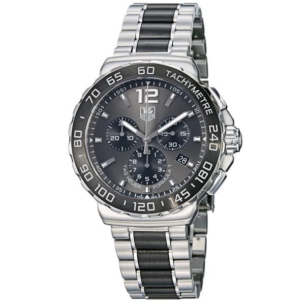 Tag Heuer Men's 'Formula 1' Grey Dial Steel Ceramic Bracelet Watch