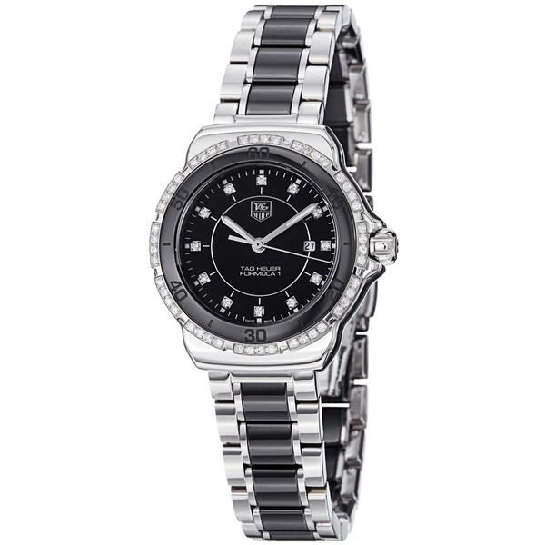 Tag Heuer Men's 'Formula 1' Black Dial Steel Ceramic Bracelet Watch
