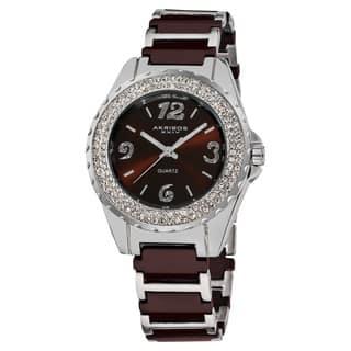 Akribos XXIV Women's Quartz Jewelry-Clasp Crystal Ceramic Brown Bracelet Watch with FREE GIFT (Option: Brown) https://ak1.ostkcdn.com/images/products/7463364/7463364/Akribos-XXIV-Womens-Quartz-Crystal-Ceramic-Bracelet-Watch-P14912094.jpg?impolicy=medium