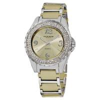 Akribos XXIV Women's Quartz Water-Resistant Mineral-Crystal Ceramic Bracelet Watch with FREE Bangle