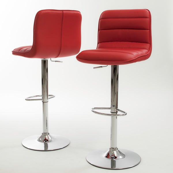 Christopher Knight Home Agoura Red Bar Stool (Set of 2)