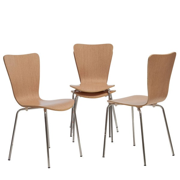 Christopher Knight Home Winnipeg Natural Wood Chairs (Set of 4)