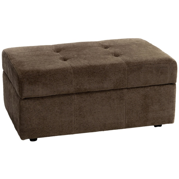 Veranda Beige Brown Fabric Storage Ottoman by Christopher Knight Home