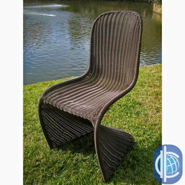 International Caravan Contemporary Resin Wicker Outdoor Chairs (Set of 2)