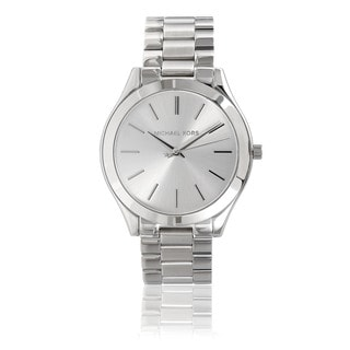 Michael Kors Women's MK3178 Stainless Steel 'Runway' Watch - Silver