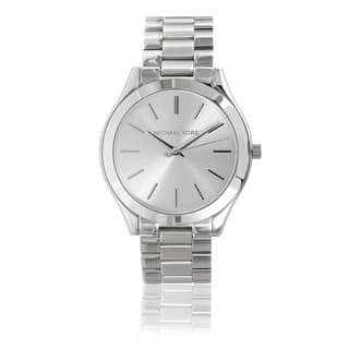 Michael Kors Women's MK3178 Stainless Steel 'Runway' Watch|https://ak1.ostkcdn.com/images/products/7463513/P14912206.jpg?impolicy=medium