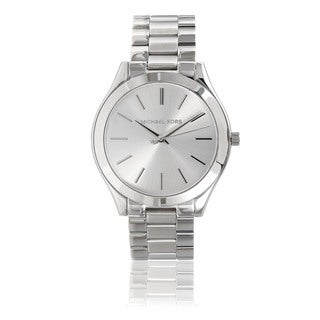 Michael Kors Women's Stainless Steel 'Runway' Watch - Silver