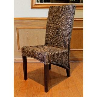'Lambada' Hyacinth Woven High Back Chairs (Set of 2)