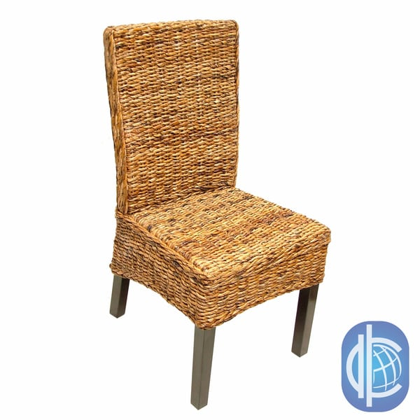 International Caravan 'Cebu' Twisted Abaca High Back Chairs (Set of 2)