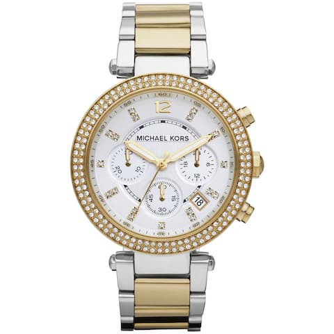 Michael Kors Women's MK5626 'Parker' Two-Tone Chronograph Watch