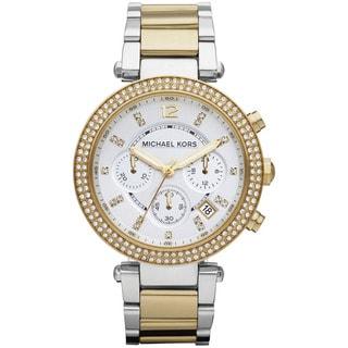 Michael Kors Women's MK5626 'Parker' Two-Tone Chronograph Watch