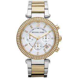 Michael Kors Women's 'Parker' Two-Tone Chronograph Watch