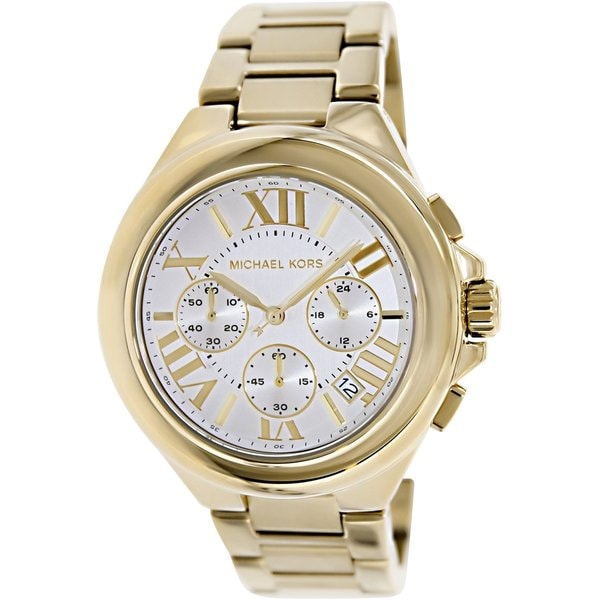 7b5d3b7a8a2a Shop Michael Kors Women's MK5635 Camille Gold-Tone Chronograph Watch - Free  Shipping Today - Overstock - 7463562