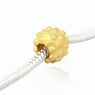 De Buman Gold Plated Sterling Silver Dot Charm Bead