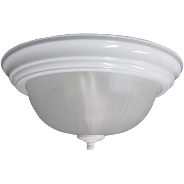 3-light White Flush Mount