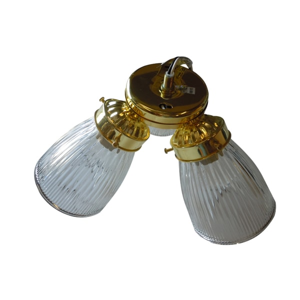 Polished Brass 3-light Ceiling Fan Light Fixture