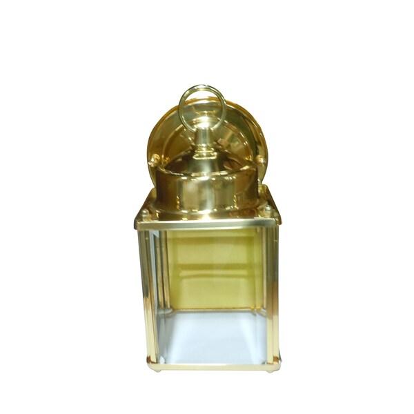 Polished Brass One-light Wall Lantern
