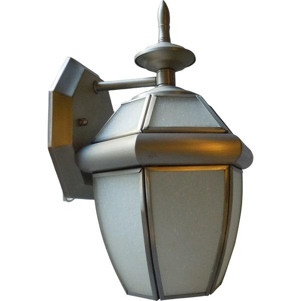 Satin Nickel One-light Wall Lantern