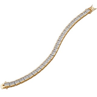 Two-tone 1/4ct TDW Diamond Tennis Bracelet (J-K, I2-I3)