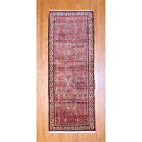 Herat Oriental Persian Hand-knotted 1960s Semi-antique Hamadan Wool Runner (3'9 x 10')