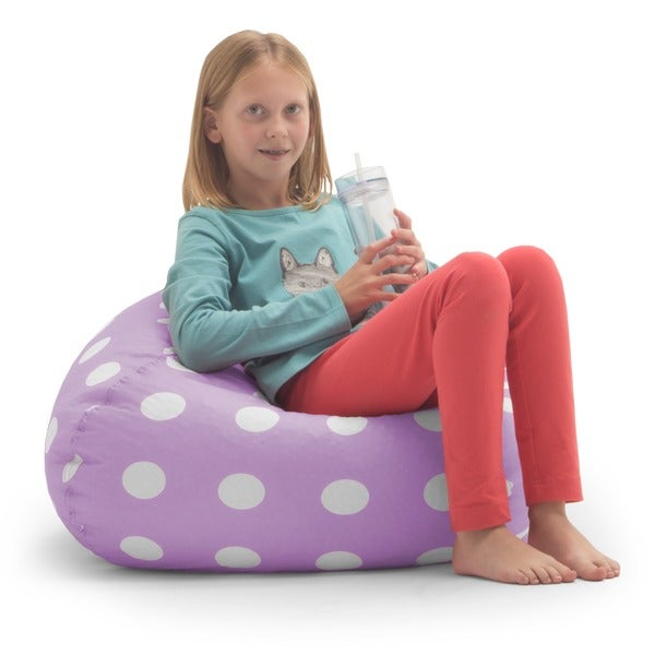 Big Joe Classic 88-inch Lavender Polka Dot Bean Bag