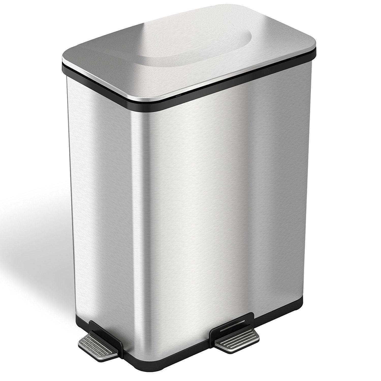 iTouchless Step Sensor Trash Can, 1 ea