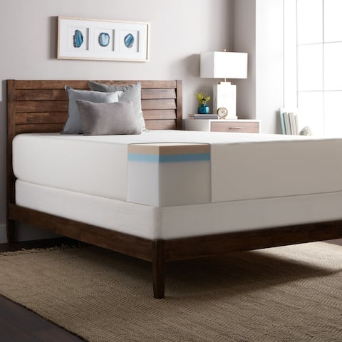 Select Luxury Medium Firm 14-inch Memory Foam Mattress and Foundation Set