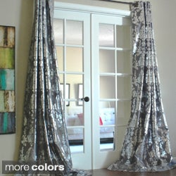 Lambrequin Amirah Intricate Damask Metallic Curtain Panel