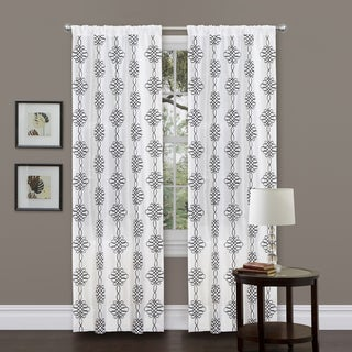 Lush Decor Isabella 84 Inch White Curtain Panel Free