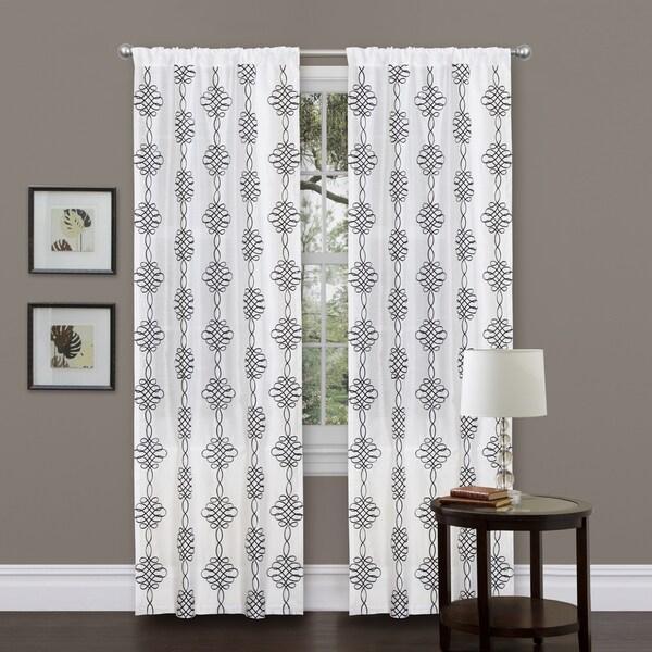 Lush Decor Isabella 84-inch White Curtain Panel