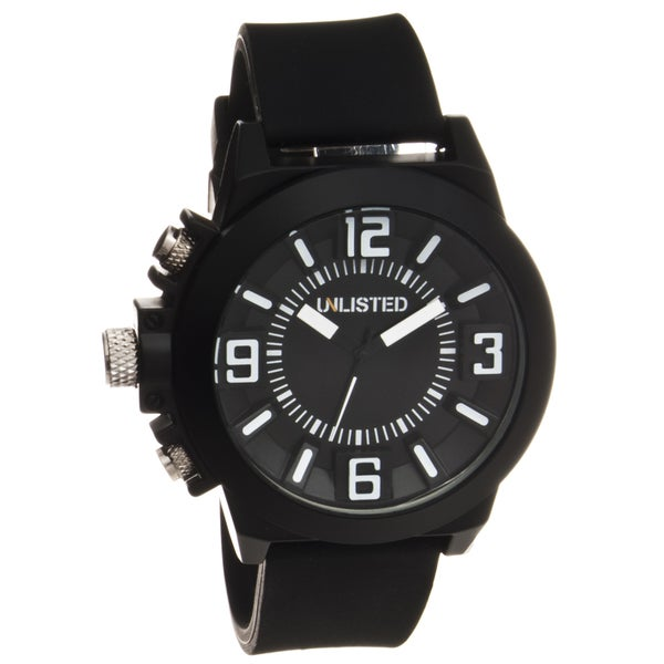 Unlisted by Kenneth Cole Men's Rubber Strap Analog Watch
