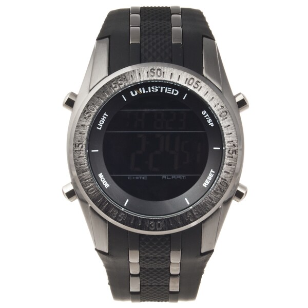 Unlisted by Kenneth Cole Men's Rubber Strap Digital Watch