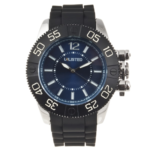 Unlisted by Kenneth Cole Men's Rubber Strap Watch