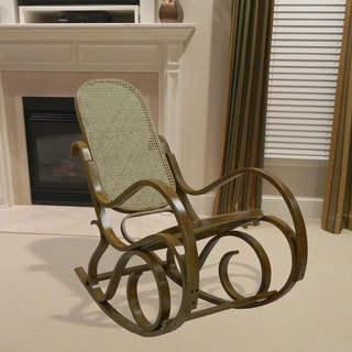 Alexandria Oak Finish Bentwood Rocking Chair