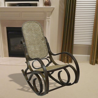 Alexandria Chestnut Finish Bentwood Rocking Chair