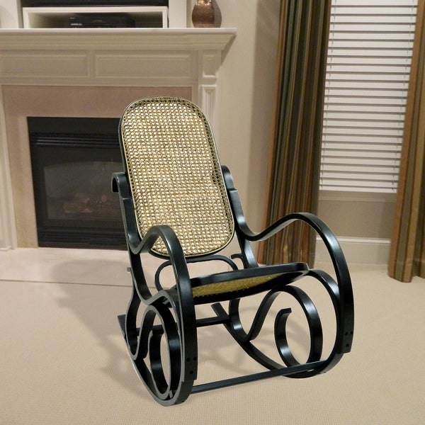 Alexandria Antique Black Finish Bentwood Rocking Chair