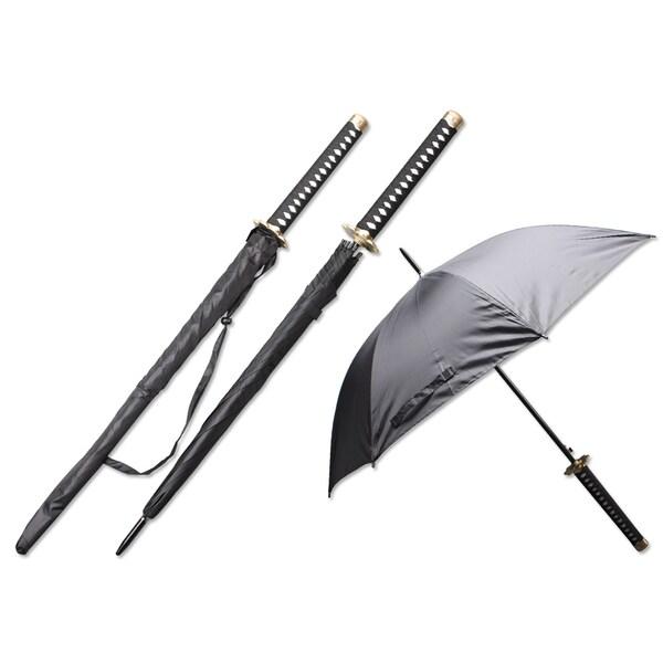 Samurai Handle 44-inch Span Umbrella - Hana (Flower)