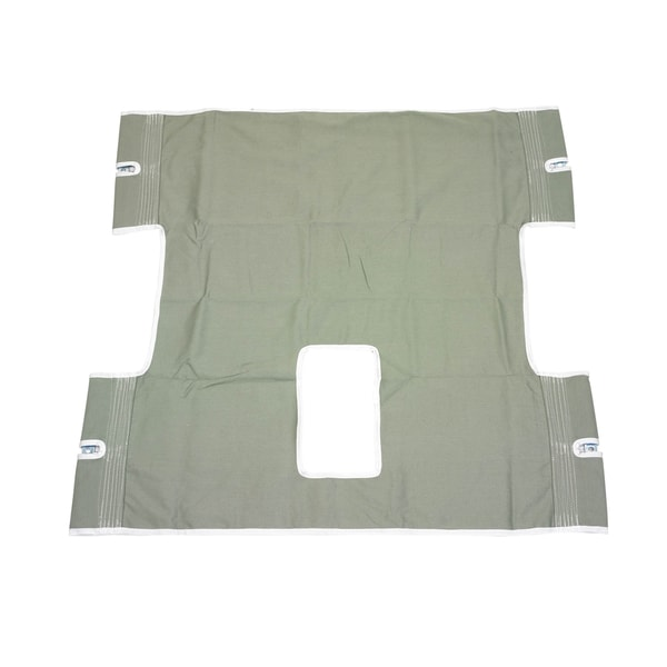 Bariatric Heavy Duty Canvas Sling with Commode Cutout